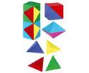 Magnetwuerfel aus 24 farbigen Tetraedern-11