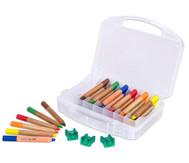 36 Buntstifte im Kunststoffkoffer mit Spitzer