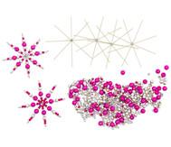 Drahtsterne-Set Pink-Silber