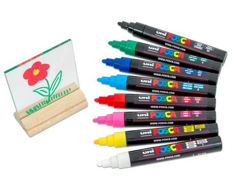POSCA Grundfarben-Set mit mittelfeiner Rundspitze