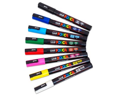 POSCA Grundfarben-Set mit feiner Rundspitze