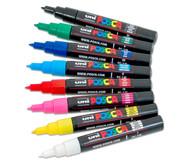POSCA Grundfarben-Set mit extra-feiner Rundspitze