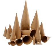 50 Pappkegel, verschiedene Größen