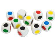 Satz mit 10 Farbwürfeln 20 mm