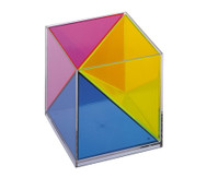Modell Würfel zerlegbar in 3 raumgleiche Pyramiden
