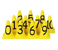Zahlenkegel von 0 - 10