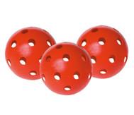Satz mit 3 roten Hockey-Sicherheitsbällen
