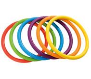 Regenbogen-Ringe, 6 Stück
