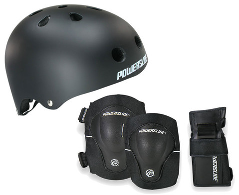 Protection-Set Helm schwarz inkl Protektoren-1