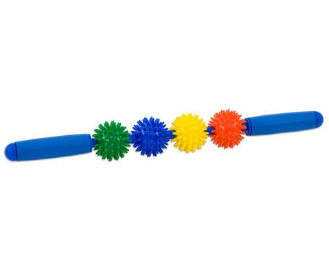 Igelball Massagestab Regenbogen