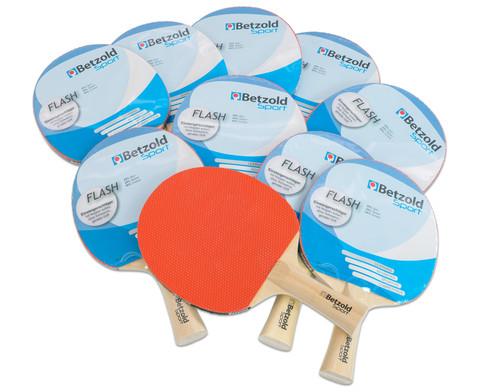 Tischtennisschlaeger Flash 10er Set
