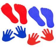 Bodenmarkierungsset Hände & Füsse
