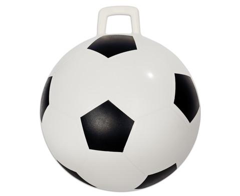 Huepfball im Fussball-Design