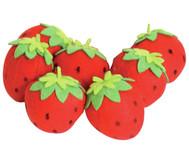 Filz-Erdbeeren, 7 Stück