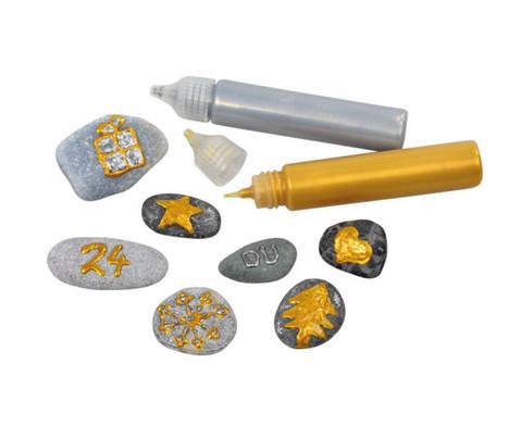 3D Perlen-Pen Gold und Silber-2