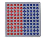 ABACO 100, rot / blau, Blöcke