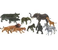 13tlg. Set afrikanische Kunststofftiere