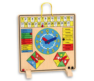 Kalendertafel aus Holz