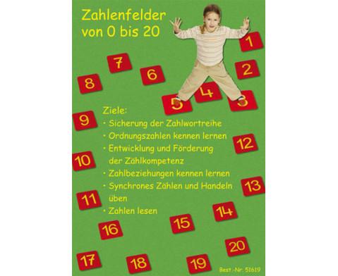 Zahlenfelder von 0 - 20-2