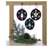 12 Weihnachts-Fensterbilder