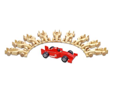 10er Set Holzautos
