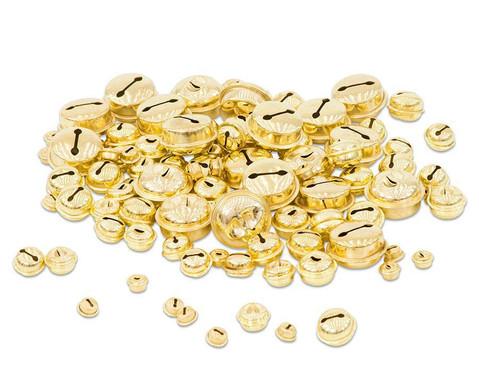 Messingschellen-Sortiment gold 100 Stk