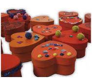 Blanko-Herzdosen aus Karton, 10 Stück