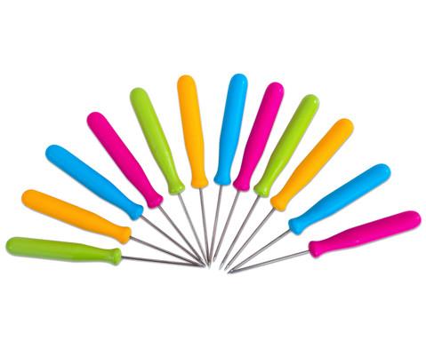 Prickelnadeln farbig 10er-Set