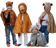 Wilde-Tiere-Kostüm-Set, 4-teilig