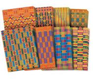 Papier im Afrika-Stil, 32 Blätter je 22 x 28 cm