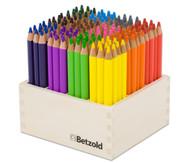 144 Dreikant-Stifte im Holzaufsteller, hochkant