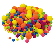 500 Neon Pompon-Bälle