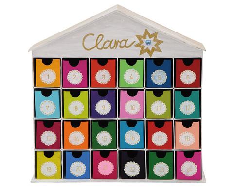 Adventskalender Haus mit 24 Schubladen blanko