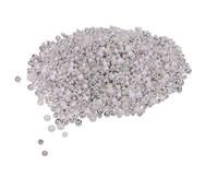 Metallicperlen, silber/weiss