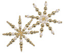 Drahtsterne-Set Weiss-Gold-2