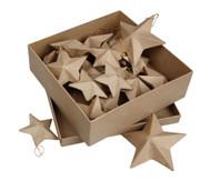 18 Pappmaché-Sterne in 3 Grössen