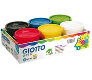6 Giotto Fingermalfarben im Set