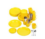 Geschirr-Set, gelb