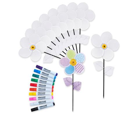 Bastel-Set Windrad-Blumen