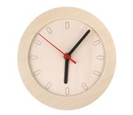 Uhr mit Holzrahmen, blanko