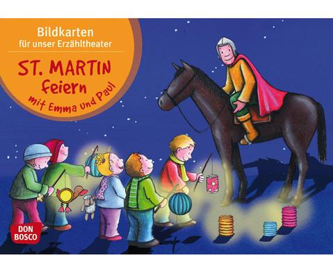 Bildkarten St Martin feiern mit Emma und Paul