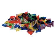 Transparente ECKO-Legesteine: grosse Dreiecke