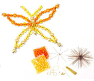 Schmetterling-Draht-Set, orange/gelb