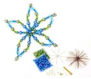 Blumen-Draht-Set, grün/blau