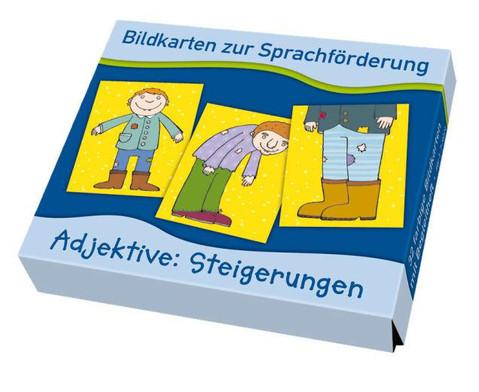 Bildkarten zur Sprachfoerderung Adjektive Steigerungen
