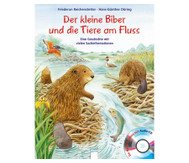 Buch+CD: Der kleine Biber und die Tiere am Fluss