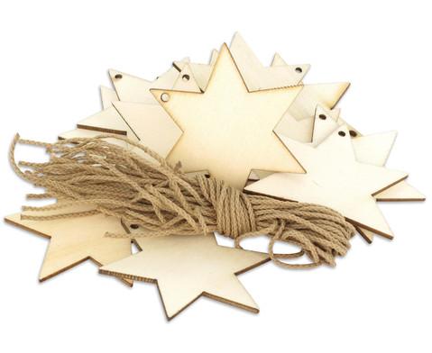 Weihnachtsanhaenger Stern blanko 24 Stueck