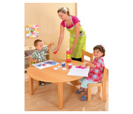 Runder Tisch, fertig montiert, Höhe: 46 cm