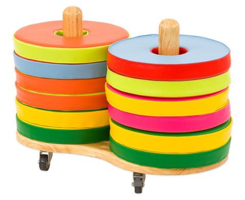 Donut Sitzkissen-Set inkl Stapelwagen