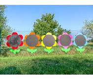 Blumen-Tafeln für In- und Outdoor, 5er-Set